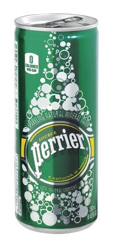 Perrier Sparkling Mineral Water Slim Cans 8.45 Oz - 35 Pack by Perrier