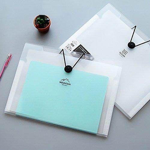 Ya Jin A4Archivo cierre elástico Carpeta 5/8/12Capa translúcido Scrub estilo sencillo Acordeón Documento Organizador,...