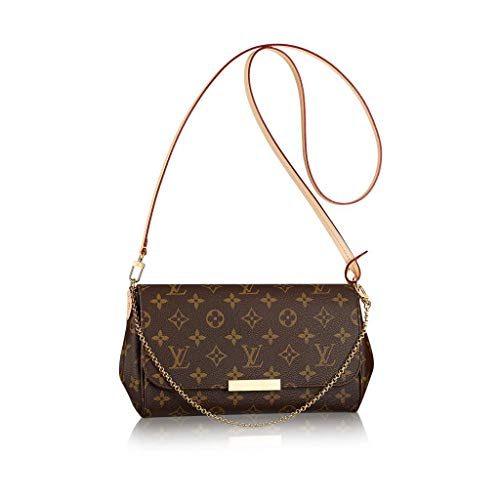 Classic Favorite Style Monogram MM Crossbody Shoulder Bag for Women Quilted Purse Perfect to Hold Cash, Cards, Checkbook, Keys, Make up, Phone etc.