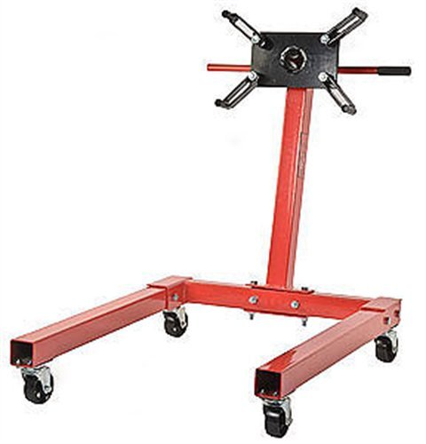 Great Deal! JEGS 80041 Red Engine Stand 1250 lbs Capacity 360 Degree Head Motor Stand
