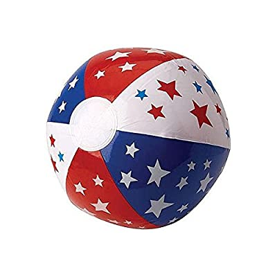 "Patriotic Party Inflatable Beach Ball, 13"": Kitchen & Dining"