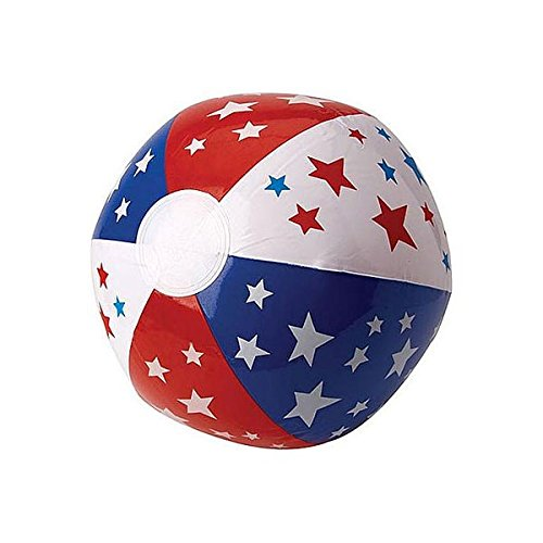 Patriotic Party Inflatable Beach Ball, 13