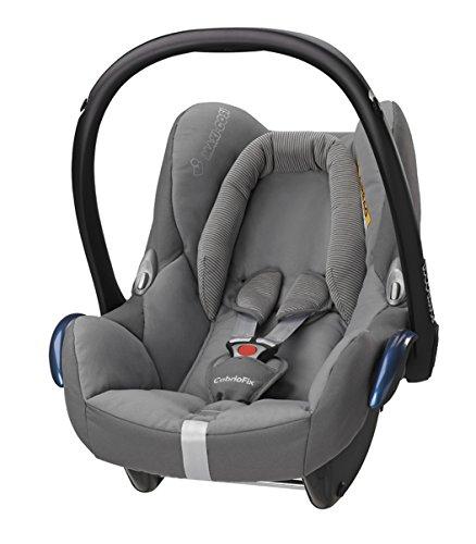 Maxi-Cosi Babyschale Cabriofix, extraleicht, Nutzung im Auto in Kombination mit allen Maxi-Cosi Basisstationen oder mit dem 3-Punkt-Gurt, Seitenaufprallschutz, Gruppe 0+ (0-13 kg), concrete grey