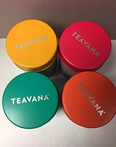 Teavana tea storage 4 tins