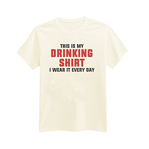 Andre's Designs Unisex Adult's This Is My Drinking Shirt. I Wear It Every Day XXL Ivory from Andre's Designs