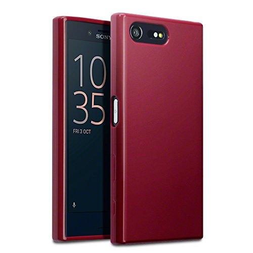 Sony Xperia X Compact Case, Terrapin TPU Schutzhülle Tasche Case Cover für Sony Xperia X Compact Hülle Matt Rot