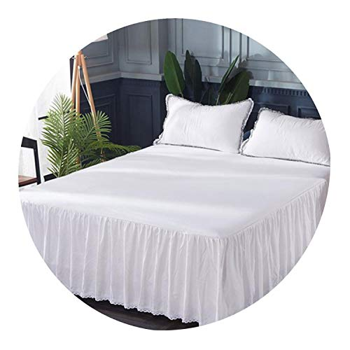 Bed Skirt Pillowcases Washed Cotton Bed Sheet Bedding Set King Queen King Full Mattress Cover Sabanas Bedroom Sheets,020,180cm200cm