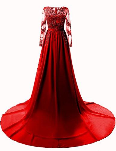 Vimans Mujer Granate Para 46 Vestido Rojo Trapecio CCHvRfwq