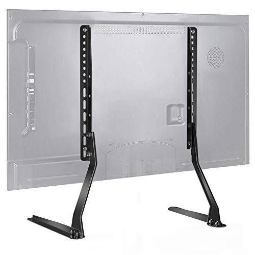 PERLESMITH Universal Table Top TV Stand for 37 - 70 Inch Flat Screen, LCD TVs Premium Height Adjustable Leg Stand Holds up to 110lbs, VESA up to 800x400mm (Stand Upright Tv)