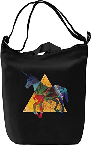 Space Unicorn Borsa Giornaliera Canvas Canvas Day Bag| 100% Premium Cotton Canvas| DTG Printing|