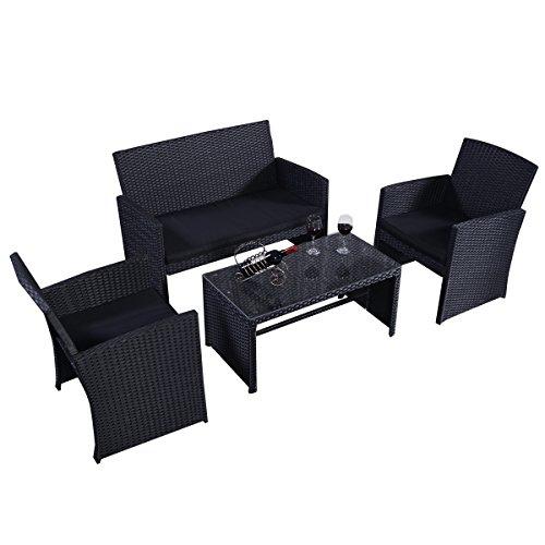 Poly Rattan Set Rattanmöbel Gartenmöbel Lounge Polyrattan Sitzgruppe Garnitur Garten