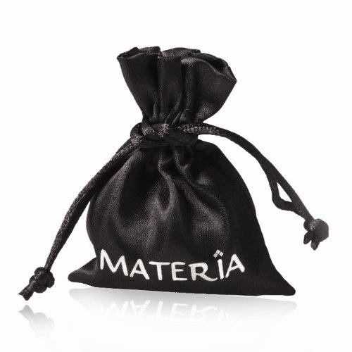 MATERIA point r charms pendentif argent 925 avec 3 zircones pour bracelet à breloques ou chaîne #c68