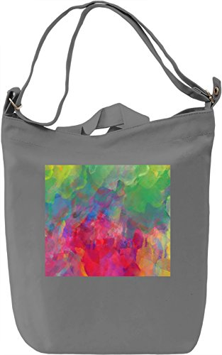 Painted Pattern Borsa Giornaliera Canvas Canvas Day Bag| 100% Premium Cotton Canvas| DTG Printing|