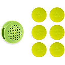 Not In My Backyard Silicone Wearable Clip All Natural Essential Oils Mosquito & Insect Repellent with 6 Refills/ Green NB0126