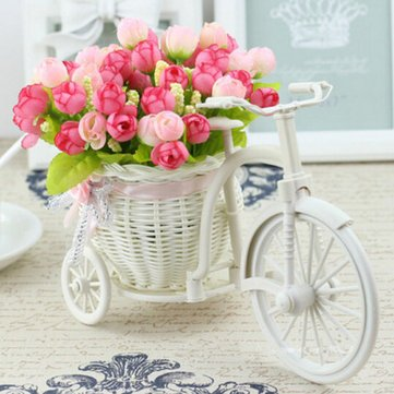 Amazon Com Large Rattan Tricycle Bike Flower Basket Vase Storage