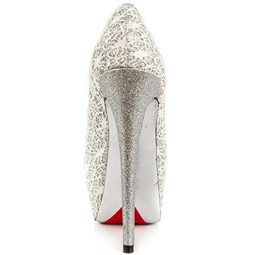 Luichiny Womens My Pleasure Dress Pump White awKl42Y