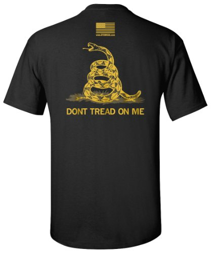 The Black Classic - Gadsden Don't Tread On Me Shirt - 2XL