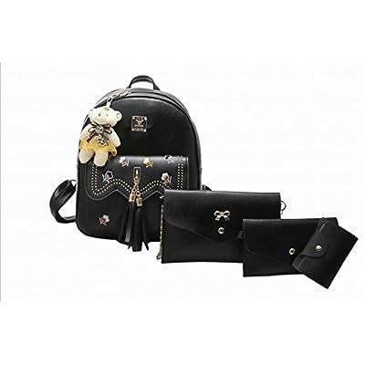 Weilong Teens School Backpack Set Canvas Girls School Bags, Bookbags Set of  4 cheap 74b75517c9