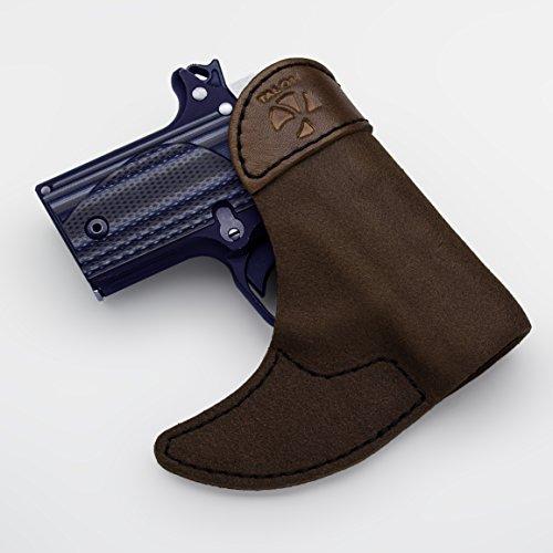 Talon Front Pocket Holster For Ruger LCR, Brown ()