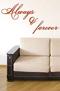 Walliv Decals Always And Forever Wall Sticker Decal Wall Quotes [wq0709]