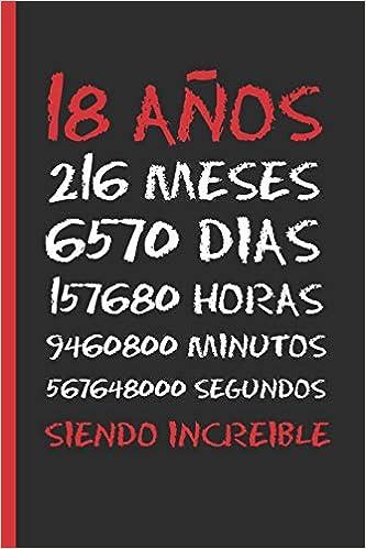 18 AÑOS SIENDO INCREIBLE: REGALO DE CUMPLEAÑOS ORIGINAL Y ...