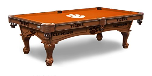 (Holland Bar Stool Co. Clemson 8' Logo Pool Table)