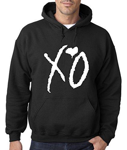 New Way 763 - Hoodie XO The Weeknd Heart Weekend Whiteout Unisex Pullover Sweatshirt 3XL Black