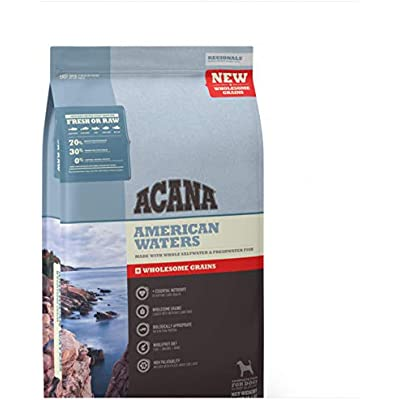 ACANA American Waters Wholesome Grains Dry Dog Food Formula 22 Pound Bag (New)