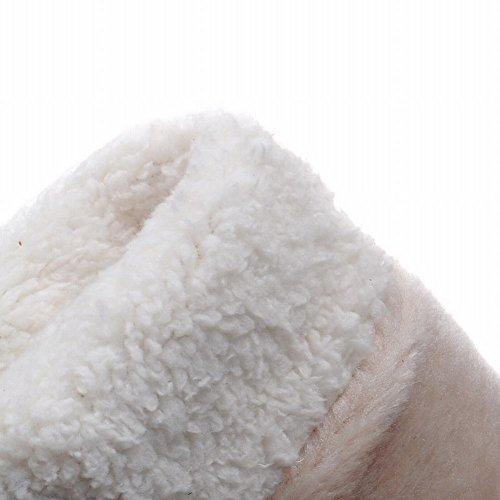 Carolbar Dames Pom-poms Dual-purpose Warme Mode Schattige Verborgen Sleehak Lange Sneeuw Jurk Laarzen Zwart