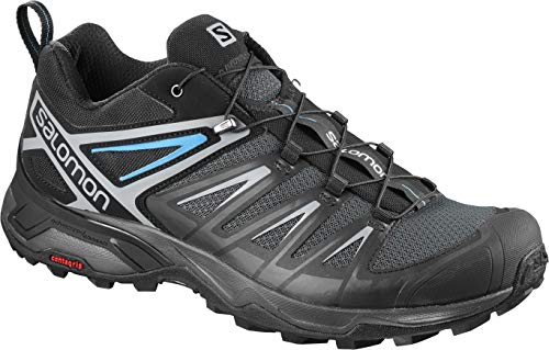 Salomon Men's X Ultra 3 Hiking Shoes, PHANTOM/Black/Hawaiian Surf, 10.5