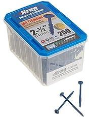 Kreg SML-C250B-250 2 1/2-Inch Blue-Kote Weather Resistant Pocket Hole Screws No.8 Coarse, Washer Head, 250 Count