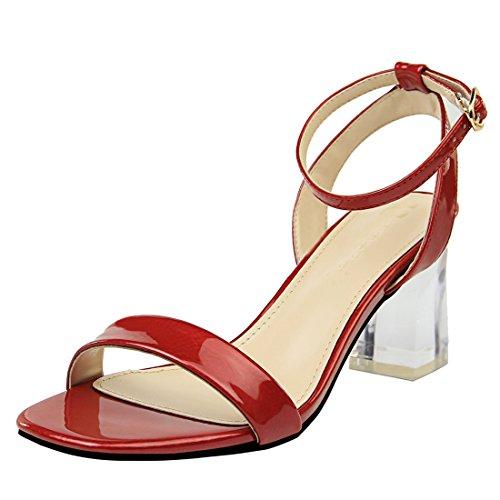 pour Miyoopark Femme DS169 6 Sandales Red MiyooparkUK yqIAqU