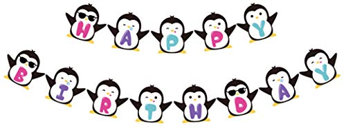 Penguin Happy Birthday Banner, Cute Penguin Inspired Birthday Sign, Penguin Bday Party