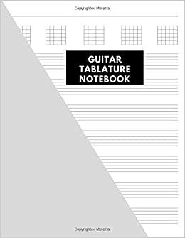 Pleiades Notebooks - Guitar Tablature Notebook: Music Paper Notebook, 200 Pages, Size 8.5 X 11 Inches