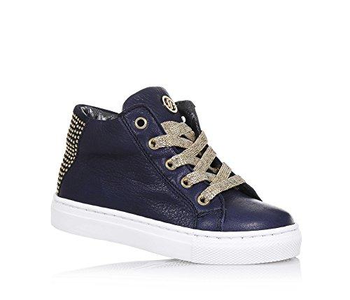 19b67e99acf0ea JARRETT - Blauer Sneaker aus Leder