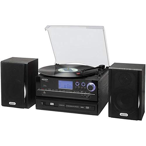 - Jensen(r) Jta-990 3-Speed Stereo Turntable Cd Recording System With Cassette Player, Am/fm Stereo Radio & Mp3 Encoding