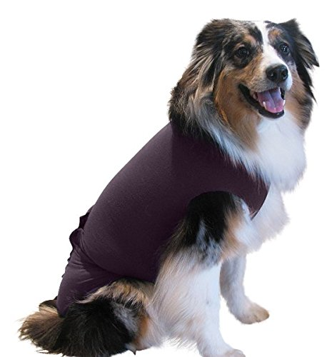 Surgi Snuggly E Collar Alternative with Antimicrobial, Protects Your Pet's Wounds and Bandages, Aids Hot Spots, and Provides Anti Anxiety Relief Made in America (MS-PL-EC)