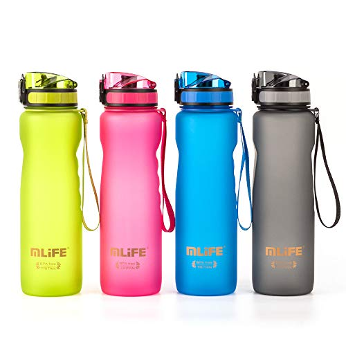 ZYettst Big Capacity Sport Water Bottle 32 oz,BPA Free Tritan Plastic Leak Proof Water Bottles with Filter & Lock Lid,Reusable Outdoor Water Jug Ideal for Camping Running Cycling Travel Blue