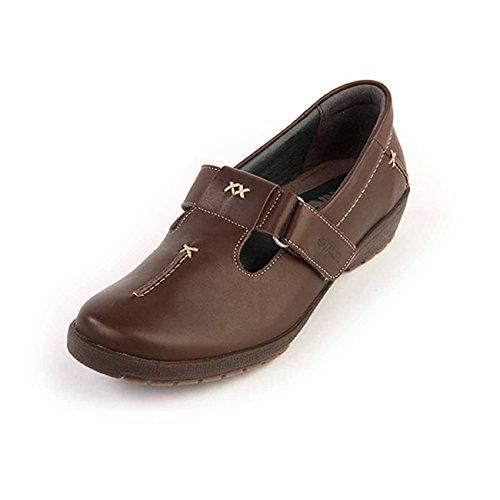 de Suave color talla cordones Zapatos mujer EU para 40 Otra Piel de marrón rrw5pq8