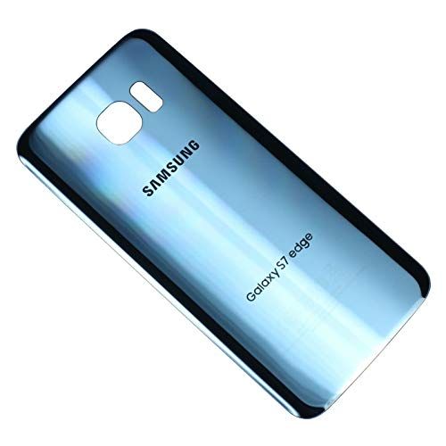 OEM Original Back Glass Cover Battery Door Replacement For Samsung Galaxy S7 edge G935 (Coral Blue) (Certified Refurbished)