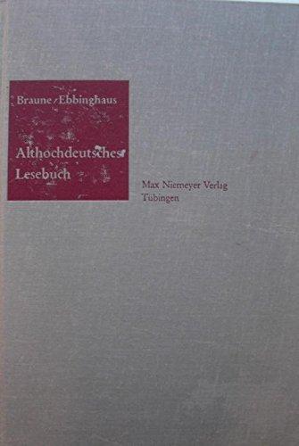 ALTHOCHDEUTSCHES LESESBUCH