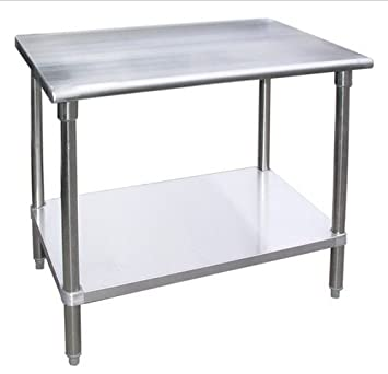 Work Table Food Prep Worktable Restaurant Supply Stainless Steel Height:  34u0026quot;. All Sizes