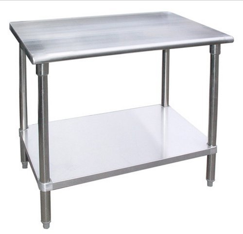 Work Table Food Prep Worktable Restaurant Supply Stainless Steel Height: 34''. All Sizes Are Available (24'' Long x 24'' Deep) by AmGood