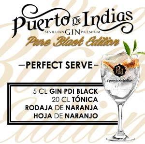 Ginebra Puerto de Indias Pure Black Edition, 70 Cl