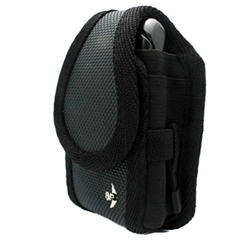 Gray Nite Ize Belt Holster Rugged Cargo Clip Case Cover Pouch for Verizon Casio G-zone Ravine C751 - Verizon Casio G-zOne Boulder - Verizon Casio G-zOne Brigade C741 - Verizon Casio G-zone Ravine 2 - Verizon HTC SMT5800 - Verizon HTC Touch Diamond