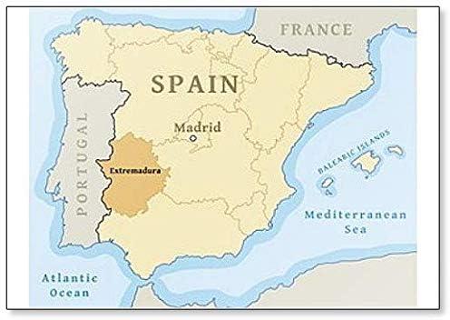 Imán para nevera con mapa de Extremadura en España: Amazon.es: Hogar