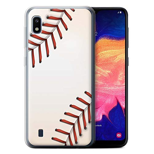 eSwish Gel TPU Phone Case/Cover for Samsung Galaxy A10 2019 / Baseball Design/Sports Balls Collection ()