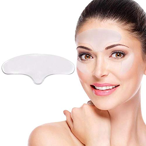 Forehead patch Silicone smooth and reusable washable anti-wrinkle pad repair tightening skin reduce forehead wrinkle expression line frown line T-shaped stickers for female mommy -