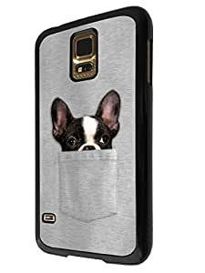 614 - Cute Dog hiding in pocketDesign For Samsung Galaxy S5 Mini Fashion Trend CASE Back COVER Plastic&Thin Metal