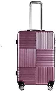 حقيبة سفر ترولي، حقيبة مقاس 28 إنش صغيرة للحمل داخل الطائرة، شنطة سفر صلبة مع عجلات والقفل المزودة المطلوب لآمن المواصلات للمسافرين إلى إمريكا، اللون بنفسجي